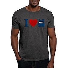 Castle I Heart Writer Vest Dark T-Shirt
