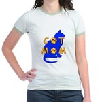 Cat Mom Jr. Ringer T-Shirt