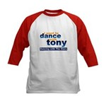 I want to Dance with Tony Kids Baseball Jersey