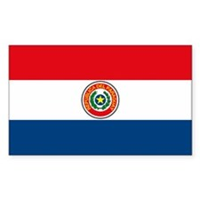 Paraguay Flag Rectangle Decal