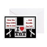 Silver Ribbons Greeting Card