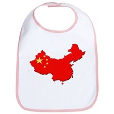 China Flag Map Bib