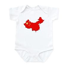 China Flag Map Infant Bodysuit