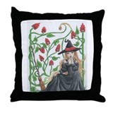 Witch's Broomstick Throw Pillow