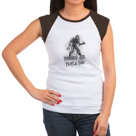 Zombies Are People Too Womens Cap Sleeve T-Shirt