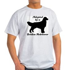 ADOPTED by Golden Retriever T-Shirt