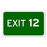 EXIT 12 Decal