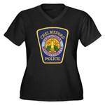 Chelmsford Police Women's Plus Size V-Neck Dark T-