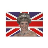 Cool Lady diana Rectangle Magnet