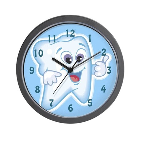 Funny Dentists Office Wall Clock By Servingupsmiles