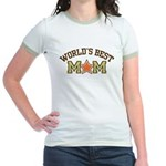 World's Best Mom Jr. Ringer T-Shirt