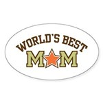 World's Best Mom Sticker (Oval)