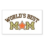 World's Best Mom Sticker (Rectangle)