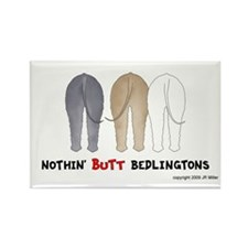 Nothin' Butt Bedlingtons Rectangle Magnet (100 pac
