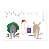 Bedlington Christmas Postcards (Package of 8)