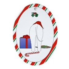 Bedlington Christmas Ornament (Oval)
