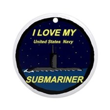 I Love My Submariner Ornament (Round)