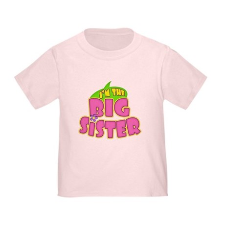 Pink Big Sister Toddler T-Shirt