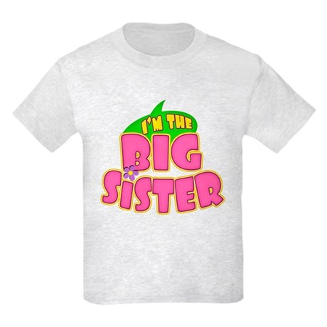 Pink Big Sister Kids Light T-Shirt