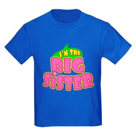 Pink Big Sister Kids Dark T-Shirt