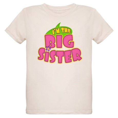 Pink Big Sister Organic Kids T-Shirt