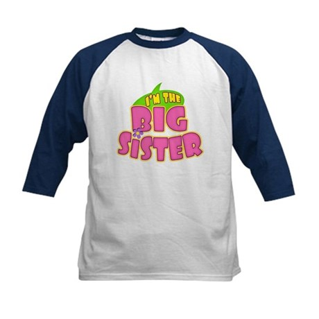 Pink Big Sister Kids Baseball Jersey