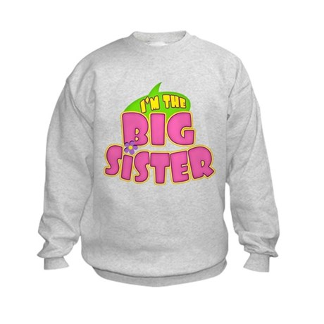 Pink Big Sister Kids Sweatshirt