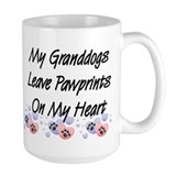 Granddogs Pawprints Large Coffee Mug