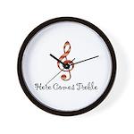 Here Comes Treble Wall Clock