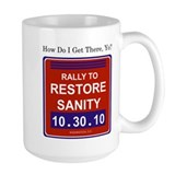 Unique Rally restore sanity Coffee Mug