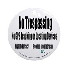 No Trespassing Ornament (Round)