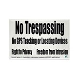 No Trespassing Rectangle Magnet (100 pack)