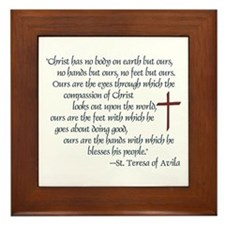 St. Teresa of Avila Quote Framed Tile