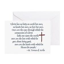 St. Teresa of Avila Quote Greeting Cards (Package
