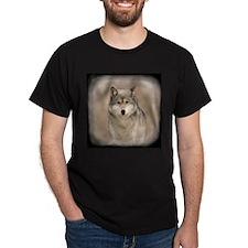 """Bright Eyes"" Wolf Apparel Black T-Shirt"