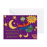 Space Alien Birthday Greeting Card