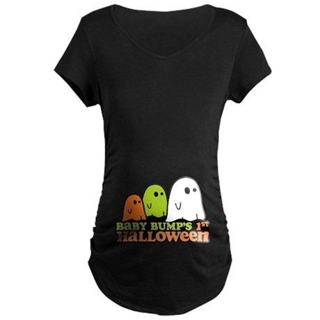 Baby Bump's 1st Halloween Maternity Dark T-Shirt