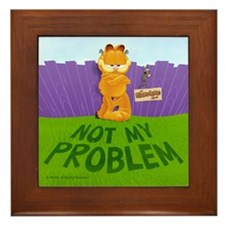 "Garfield ""Not My Problem"" Framed Tile"