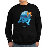 Kawaii Blue Skull Sweatshirt