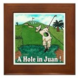 """A Hole in Juan"" Framed Tile"