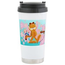 """Friends Are There"" Garfield Ceramic Travel Mug"