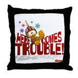 Garfield &quot;Here Comes Trouble&quot; Throw Pillow