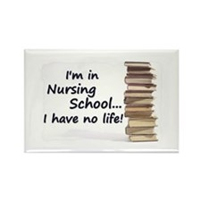 Nursing School Rectangle Magnet (10 pack)