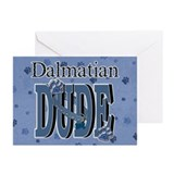 Dalmatian DUDE Greeting Cards (Pk of 20)