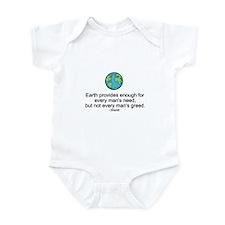 Ghandi Earth Quote Infant Bodysuit