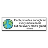 Ghandi Earth Quote Bumper Sticker