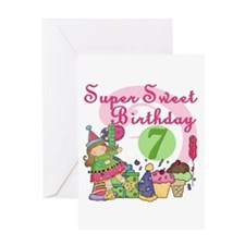 Sweet 7th Birthday Greeting Card