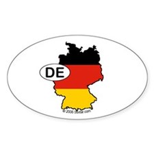 Germany-mini National Flag Outline Oval Decal
