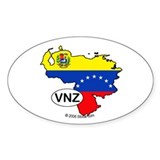 Venezuela-mini National Flag Outline Sticker(Oval)