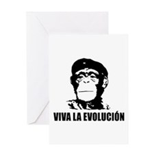 Atheism Evolution Greeting Card